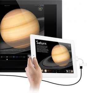 iPad slideshow - iPad HDMI connection to a projector