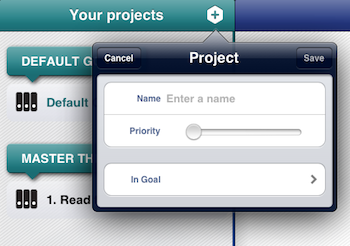 Use the best ipad apps for business - Project management iPad - add a project