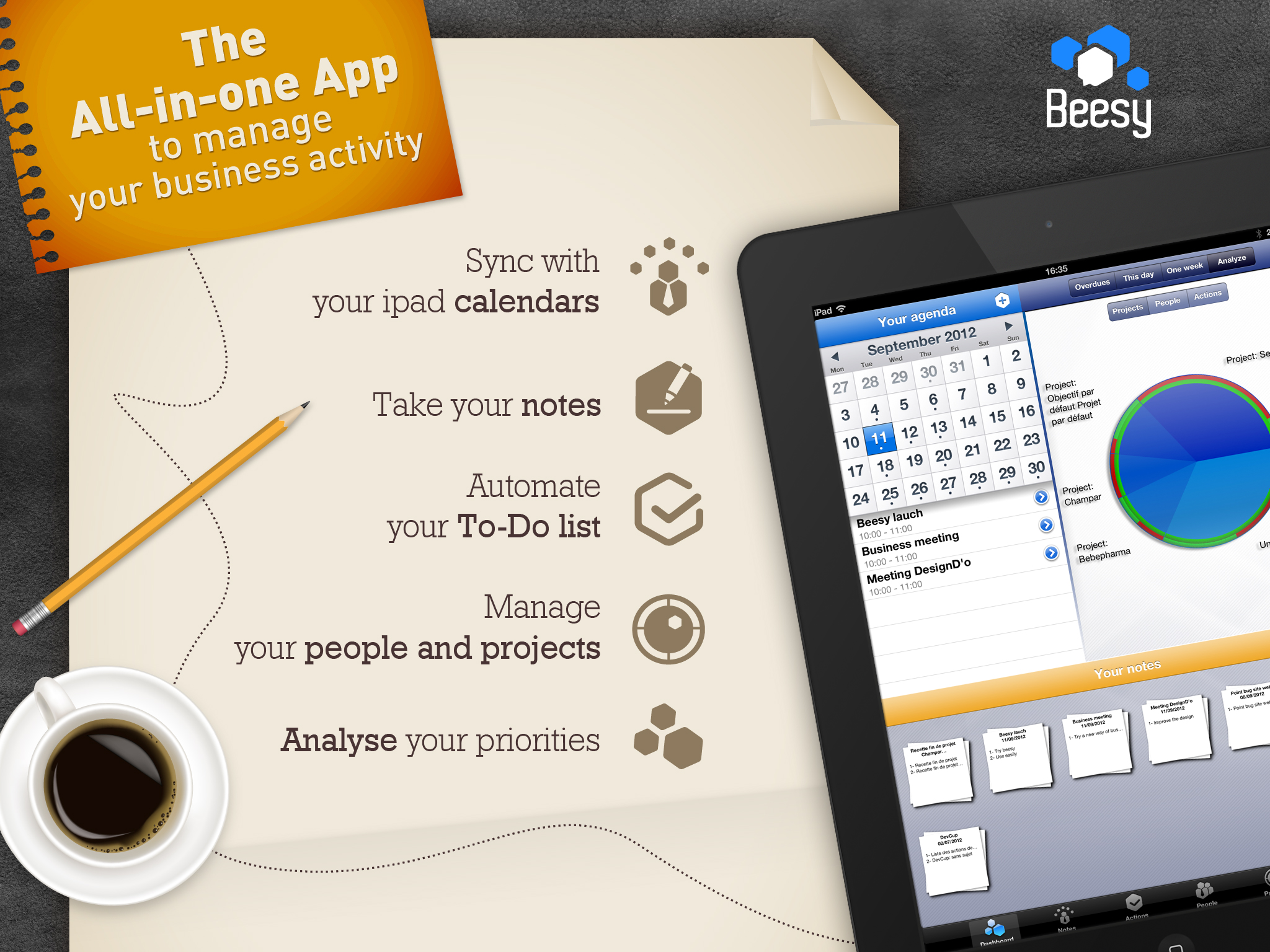 Beesy HD A complete note taking app for iPad