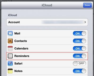 Beesy - sync iOS reminders with iCloud iPad