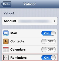 Beesy - sync iOS reminders with Yahoo Task iPad