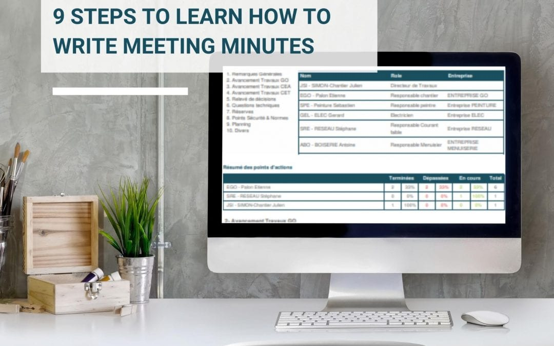 9 Steps To Learn How To Write Meeting Minutes