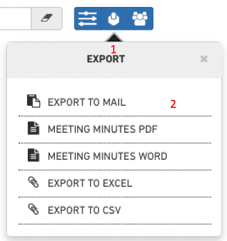 Export to mail