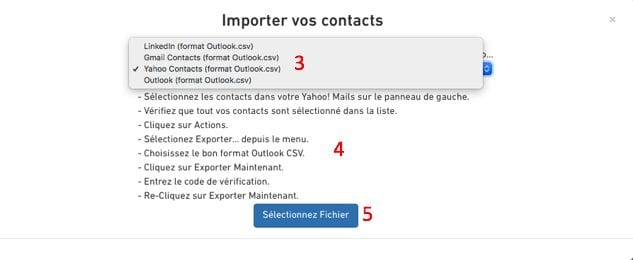 Importer contacts 2