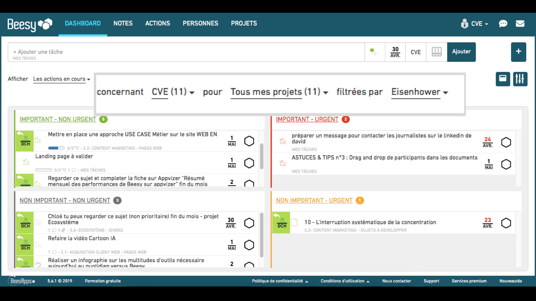 Logiciel de gestion de projet Beesy