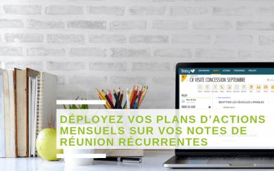 Nouveauté Beesy : Déployez vos plans d'actions mensuels sur vos notes de réunion récurrente