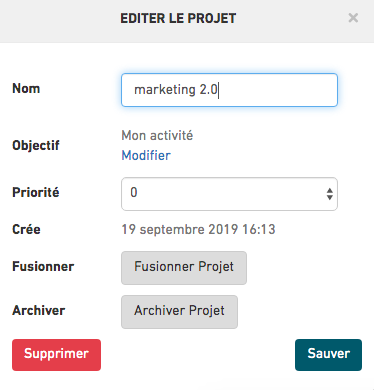 Archive a Project