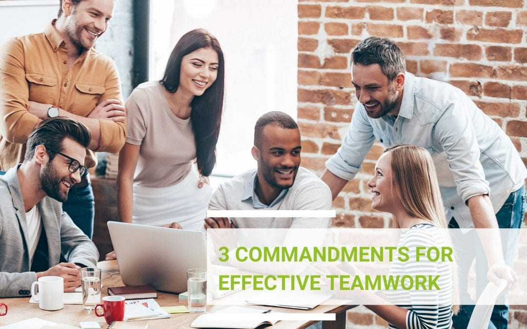 3 commandments for effective teamwork