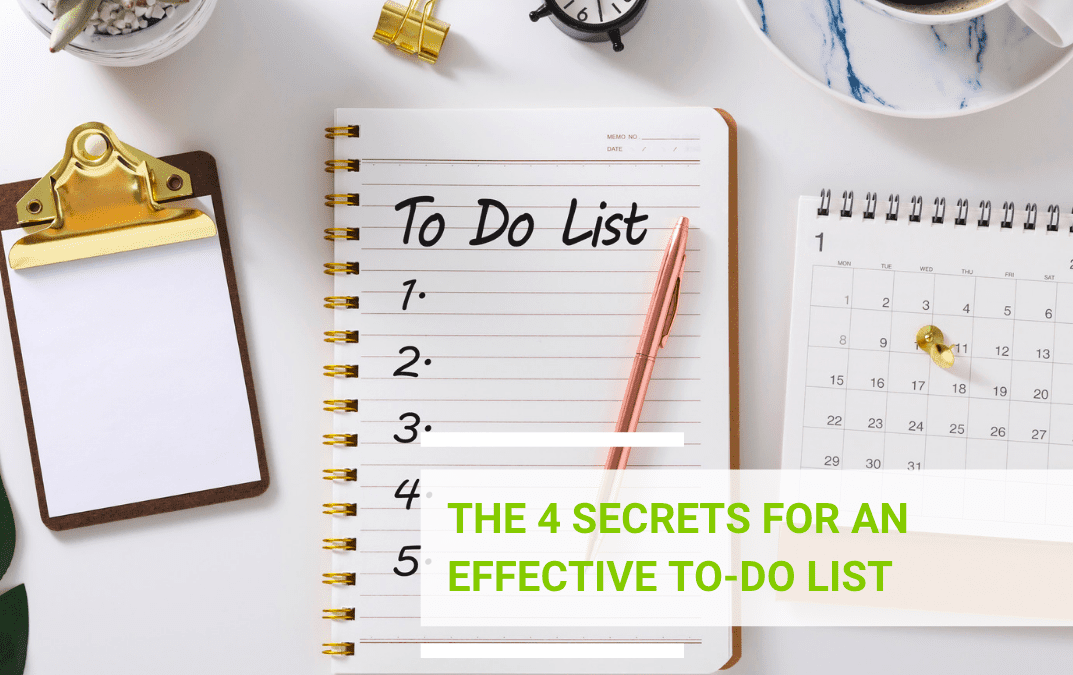 The 4 secrets for an effective To-Do List