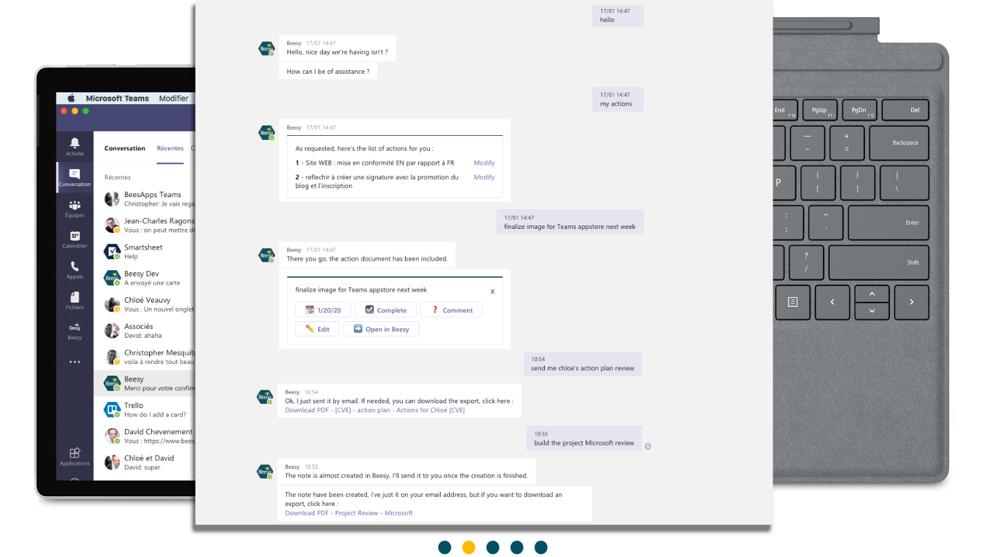 chatbot Beesy in Teams