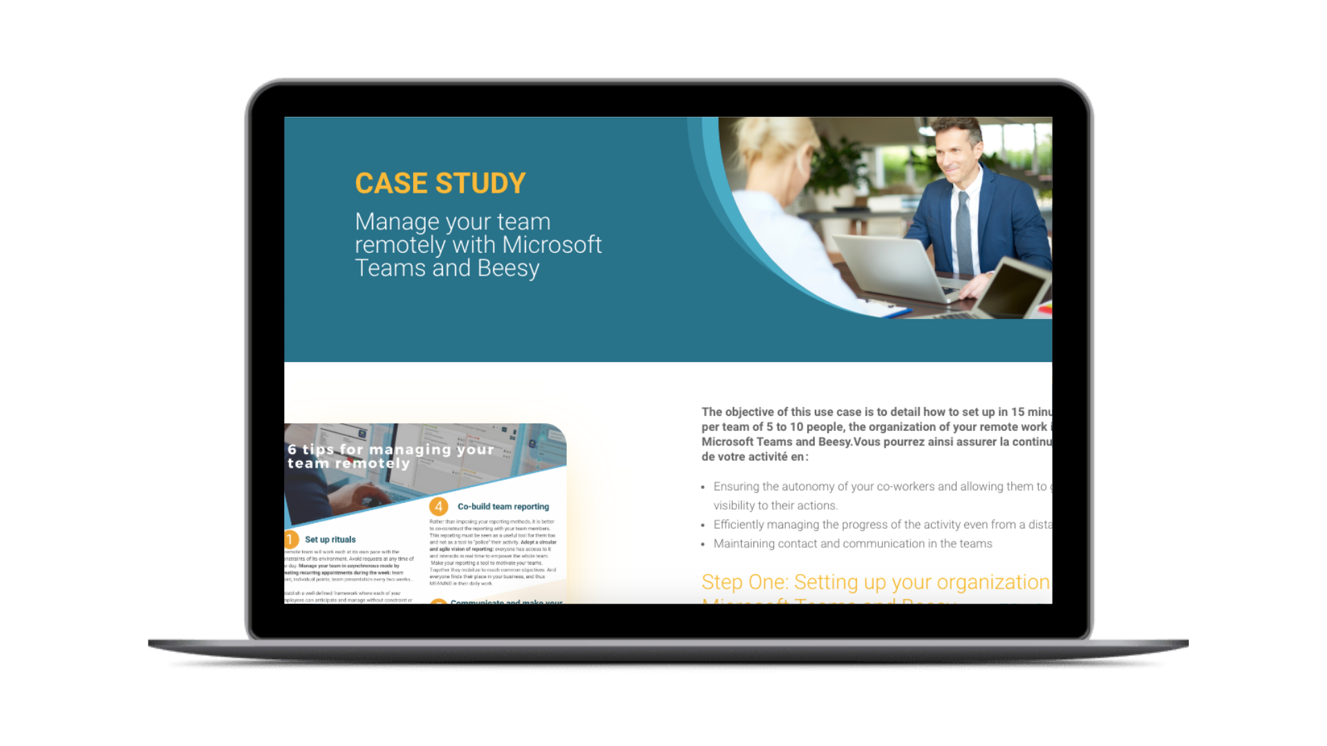 CASE STUDY Manage your team remotely with Microsoft Teams and Beesy