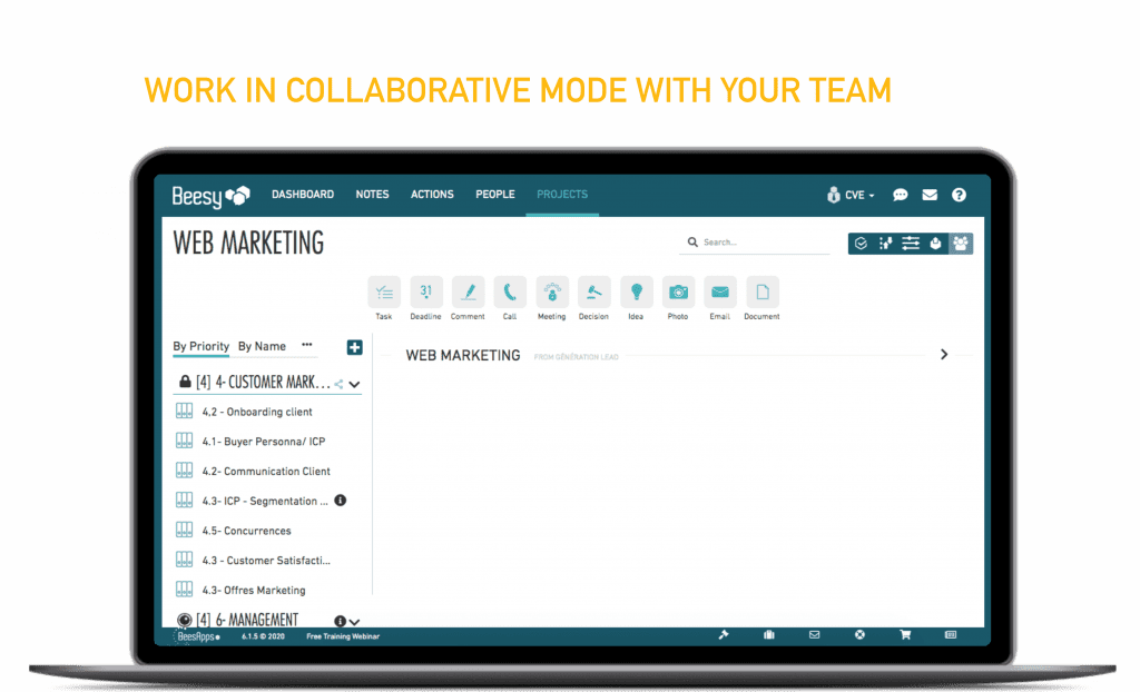 Work in collaborative mode with your team